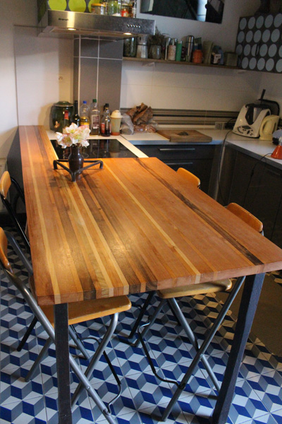 cuisine bois acier stratifier5